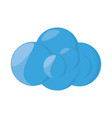 isolated web cloud vector image vector image