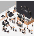 Isometric coffee shop