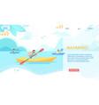 kayaking horizontal banner sport competition vector image