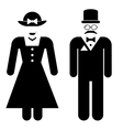 Male and female restroom icons vector image vector image