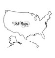 map of the united states of america usa outline vector image