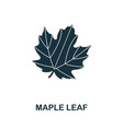 maple leaf icon symbol creative sign from maple vector image