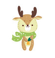 merry christmas holiday graphic cute deer with co vector image