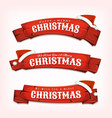 merry christmas wishes on red wood banners vector image