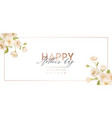 mother day modern banner spring holiday floral vector image vector image