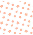 orange confetti star pattern holiday bright vector image vector image
