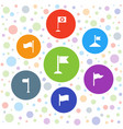pennant icons vector image vector image