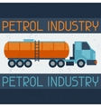 Petrol truck background vector image vector image