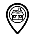 pin real estate isolated icon vector image vector image
