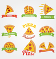 Pizza flat vintage label vector image