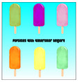 popsicles with watercolor texture vector image vector image