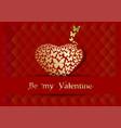 postcard desig for valentines day vector image