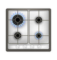realistic detailed 3d gas stove vector image
