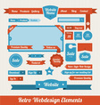 Retro web design elements vector | Price: 1 Credit (USD $1)