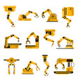 robotic arms manufacturing industry mechanical vector image