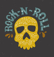 Rock-n-roll poster vector image vector image