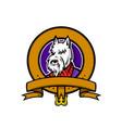 scottish terrier belt loop mascot vector image