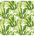 seamless pattern with tropic plants vector image vector image