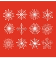 Set of 12 abstract snowflakes vector image