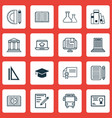 set of 16 education icons includes opened book vector image vector image