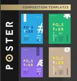 set poster flyer brochure layout templates vector image
