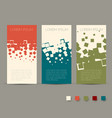 simple colorful horizontal banners - with square vector image