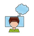 sleeping man avatar icon vector image