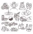 Spa sketch icons vector image vector image