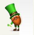 st patrick s day irish gnome with a blank vector image vector image