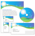 template for corporate identity vector image