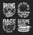 tshirt prints with car rally racing club vector image vector image