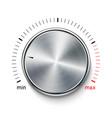 volume button knob metal texture steel chrome vector image vector image