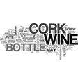 what is corked wine text word cloud concept vector image vector image