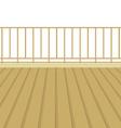 Wooden Balcony With Wooden Floor vector image