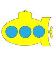 Yellow submarine icon vector image vector image