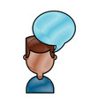 young man with speech bubble avatar character vector image vector image