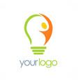creative man idea logo vector image