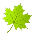 Summer Maple Leaf Low Poly vector image