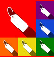 tag sign set of icons with vector image