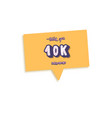 10 k followers post template design vector image vector image