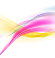 abstract smooth colorful wave background vector image vector image