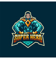 awesome super hero logo template vector image vector image