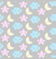 baby cute pastel colors seamless pattern vector image