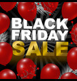 black friday sale design of red balloon background vector image vector image