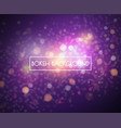 bokeh lights and glitter background vector image vector image