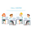 call center operators in vector image vector image