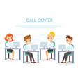 call center operators vector image