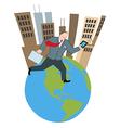 Cartoon businessman running vector image vector image