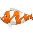 cartoon character fish vector image vector image