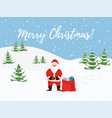 cartoon christmas background santa claus vector image